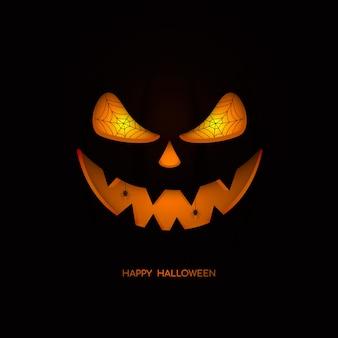 Wesołego halloween. twarz dyni