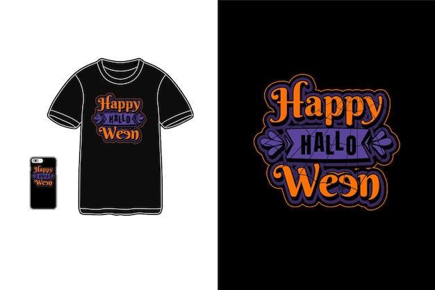 Wesołego halloween typografii