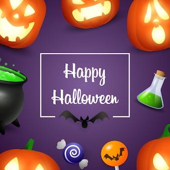 Wesołego halloween z lampionami dyni