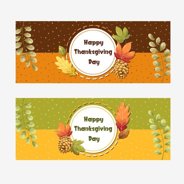 Wesołego święta dziękczynienia karta z liśćmi dyni, jabłka, kukurydzy i klonu