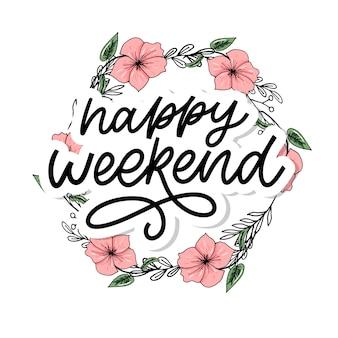Wesołego weekendu, napis