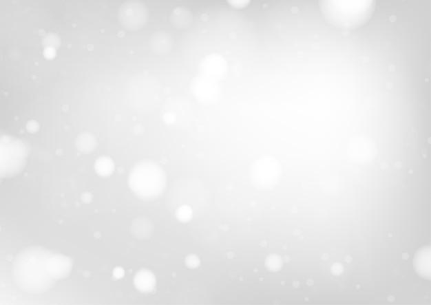 Wesoło bożych narodzeń tło z białymi bokeh światłami