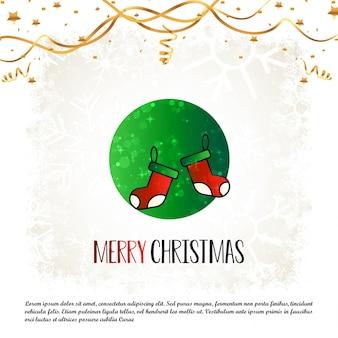 Wesoło kartka bożonarodzeniowa z kreatywnie projekta wektorem