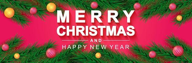 Wesołych świąt 2022 banner świąteczny plakat świąteczny i szczęśliwego nowego roku