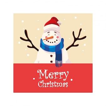 Wesołych świąt bałwana kreskówka