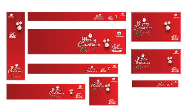 Wesołych świąt banner projekt.