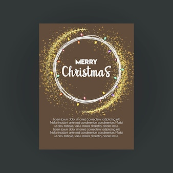 Wesołych świąt bokeh tło szablon karty invitation