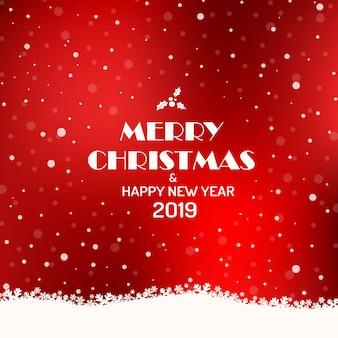 Wesołych świąt bożego narodzenia 2019 tło.