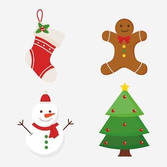 Wesołych świąt bożego narodzenia bałwanek i sosna projekt bałwana, motyw sezonu zimowego.