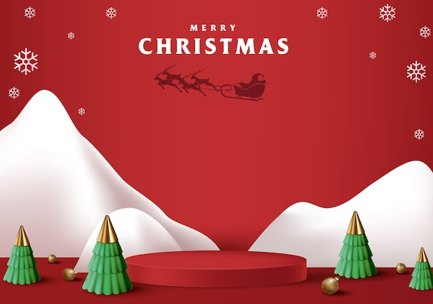 Wesołych świąt bożego narodzenia baner o cylindrycznym kształcie