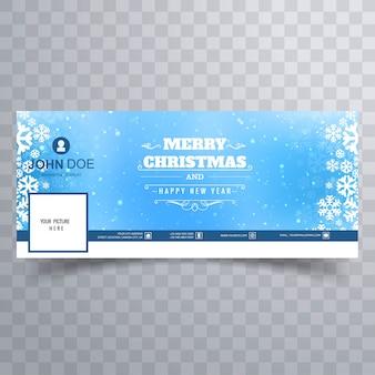 Wesołych świąt bożego narodzenia błyszczący płatek śniegu kolorowy transparent