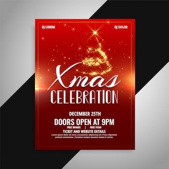 Wesołych świąt bożego narodzenia celebracja projekt plakatu