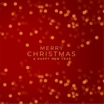 Wesołych świąt bożego narodzenia czerwony festiwal tło bokeh