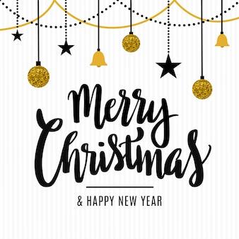Wesołych świąt bożego narodzenia dekoracyjne tło