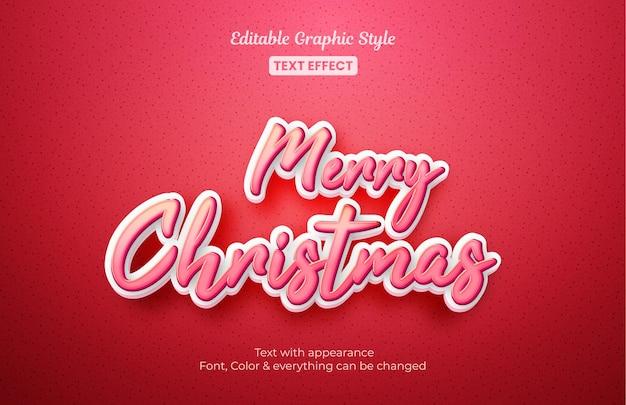 Wesołych świąt bożego narodzenia, edytowalny efekt tekstowy
