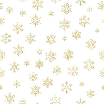 Wesołych świąt bożego narodzenia efekt dekoracji. wzór złoty śnieżynka.