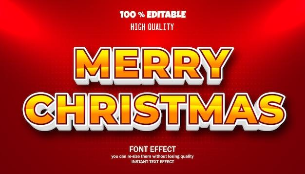 Wesołych świąt bożego narodzenia efekt tekstowy. edytowalna czcionka