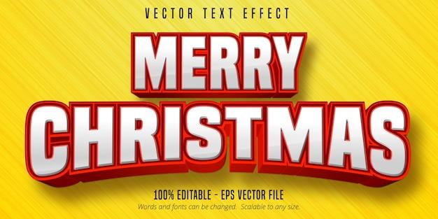 Wesołych świąt bożego narodzenia efekt tekstowy