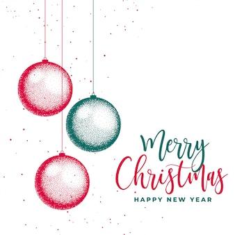 Wesołych świąt bożego narodzenia festiwal karty kreatywnych tło