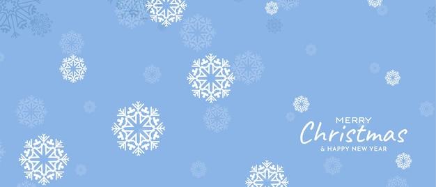 Wesołych świąt bożego narodzenia festiwal płatki śniegu delikatny kolor
