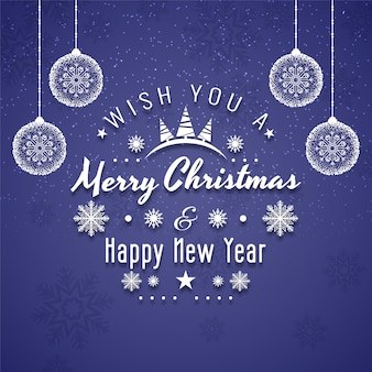 Wesołych świąt bożego narodzenia festiwalu tekst tło dekoracyjne