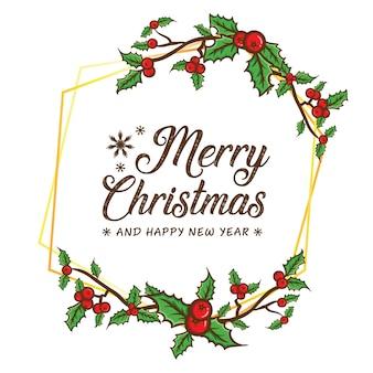 Wesołych świąt bożego narodzenia framing szablon tło