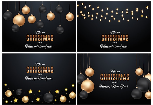 Wesołych świąt bożego narodzenia i nowego roku tła