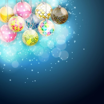 Wesołych świąt bożego narodzenia i nowego roku w tle. ilustracja wektorowa eps10