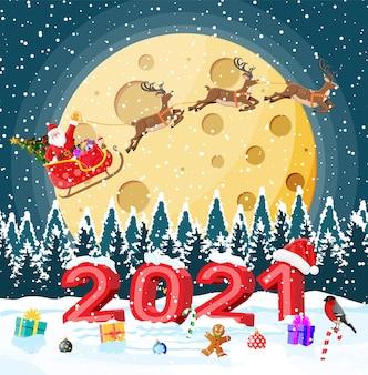 Wesołych świąt bożego narodzenia i nowego roku z życzeniami świątecznymi z pogrubionymi literami 2021.
