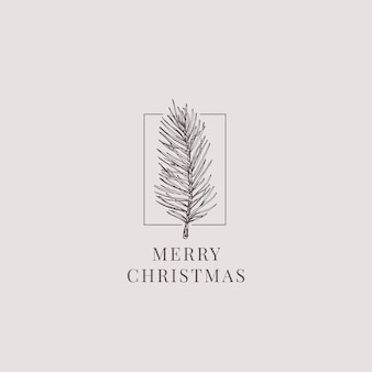 Wesołych świąt Bożego Narodzenia Ilustracja Premium Wektorów