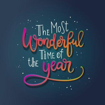 Wesołych świąt bożego narodzenia kaligraficzne napis. wydruk fraz zimowych wakacji. cudowna pora roku