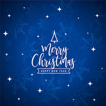 Wesołych świąt bożego narodzenia karta festiwalu z płatki śniegu