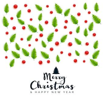 Wesołych świąt bożego narodzenia kartkę z życzeniami ozdobny wzór tła