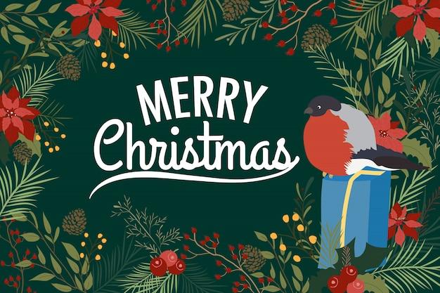 Wesołych świąt bożego narodzenia kartkę z życzeniami tło.