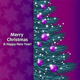 Wesołych świąt bożego narodzenia kartkę z życzeniami z choinki