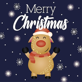 Wesołych świąt bożego narodzenia kartki z reniferami