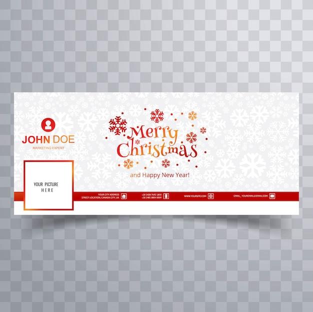Wesołych świąt bożego narodzenia karty z szablon transparent pokrywa facebooka