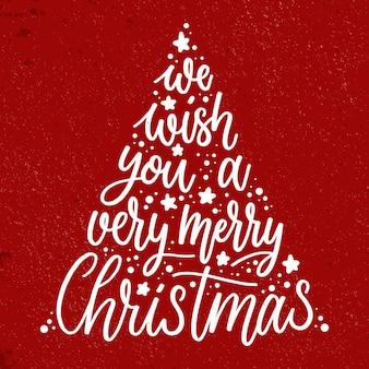 Wesołych świąt bożego narodzenia koncepcja napis