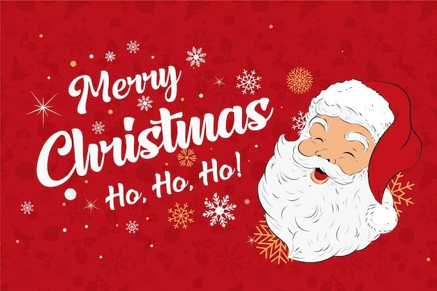 Wesołych świąt bożego narodzenia koncepcja tło