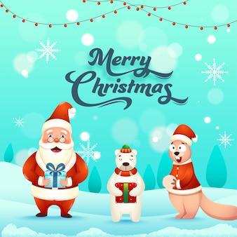 Wesołych świąt bożego narodzenia koncepcja