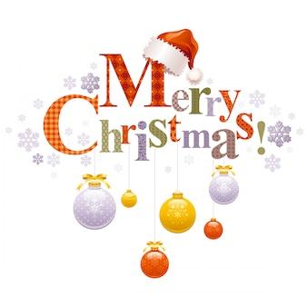Wesołych świąt bożego narodzenia kreskówka kartkę z życzeniami.