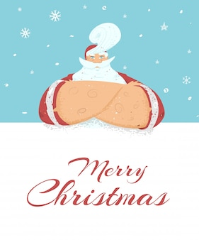 Wesołych świąt bożego narodzenia lub banner z mikołajem