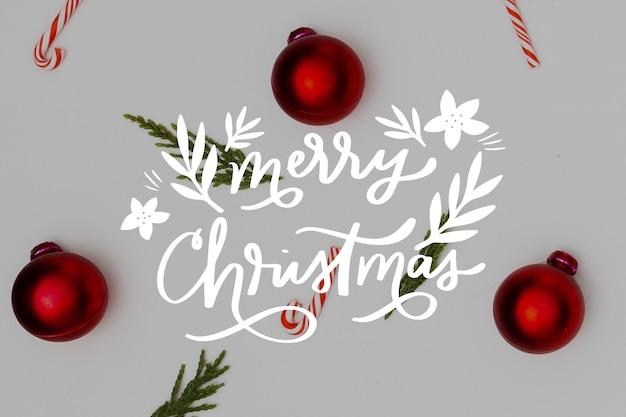 Wesołych świąt bożego narodzenia napis na boże narodzenie zdjęcie