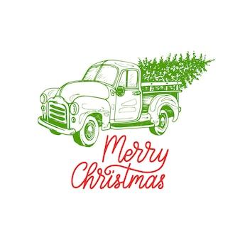 Wesołych świąt bożego narodzenia napis. rysowane ilustracja odbioru zabawki. wesołych świąt pozdrowienia