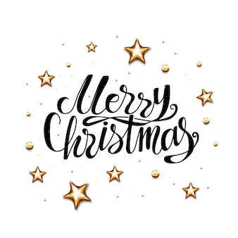 Wesołych świąt bożego narodzenia napis świąteczny plakat z folii złotej.