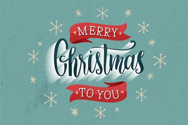 Wesołych świąt bożego narodzenia napis z gwiazdami