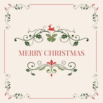 Wesołych świąt bożego narodzenia odznaka projekt wektor