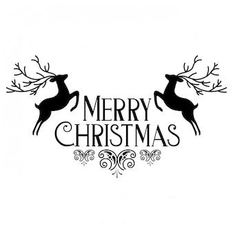Wesołych świąt bożego narodzenia ozdoba