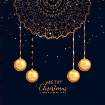 Wesołych świąt bożego narodzenia ozdobny karta tło