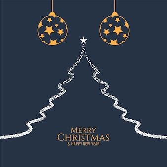 Wesołych świąt bożego narodzenia ozdobny wzór tła